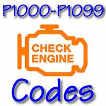 P1000 - P1099 OBD II Diagnostic Codes